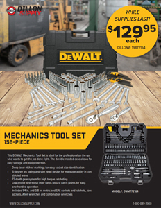 Dewalt 156 piece mechanics tool set