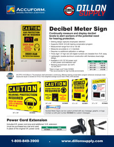 Accuform Decibel Meter Sign Flyer