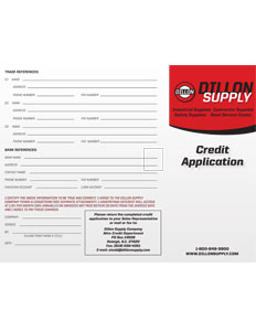 Dillon Credit Application