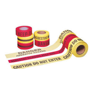 "Mutual 2"" X 45yd Red Cotton Danger Tape"