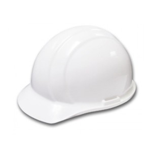 ERB® 19761 Americana White Cap Style Hard Hat with Pinlock Suspension