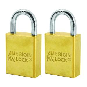 "American Lock® A40T 1-1/2"" Solid Brass Padlock (2/Pack)"