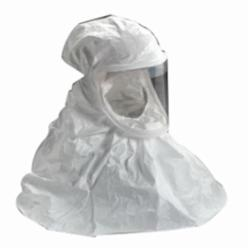 3M™ 051138-72088 BE Series Double Bib Respirator Hood, Regular, For Use With 3M™ Air-Mate™, Breathe Easy™ Powered Air Purifying Respirators, White