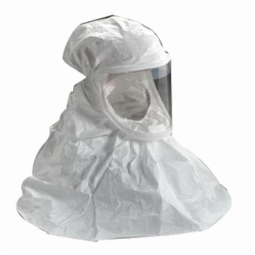 3M™ Versaflo™ 051138-72427 BE Series Double Bib Respirator Hood, Regular, For Use With 3M™ Air-Mate™, Breathe Easy™ Powered Air Purifying Respirators, White