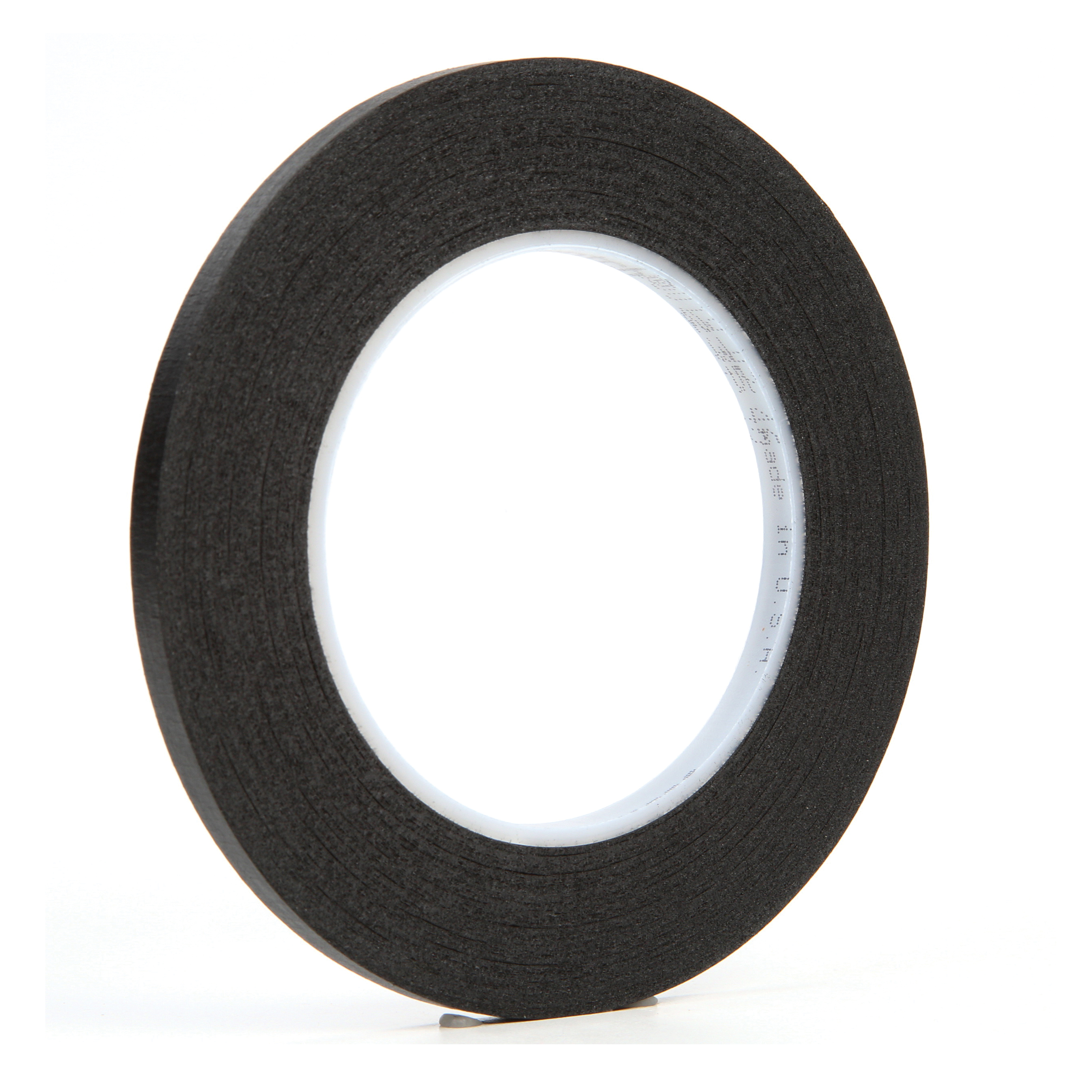 3M™ 021200-02837 Photographic Tape, 60 yd L x 1/4 in W, 7 mil THK, Rubber Adhesive, Crepe Paper Backing, Black