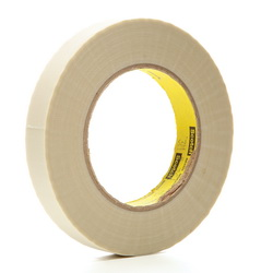 3M™ 021200-03016 361 Cloth Tape, 60 yd L x 3/4 in W, 6.4 mil THK, Silicone Adhesive, Glass Cloth Backing, White
