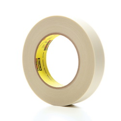 3M™ 021200-03017 361 Cloth Tape, 60 yd L x 1 in W, 6.4 mil THK, Silicone Adhesive, Glass Cloth Backing, White