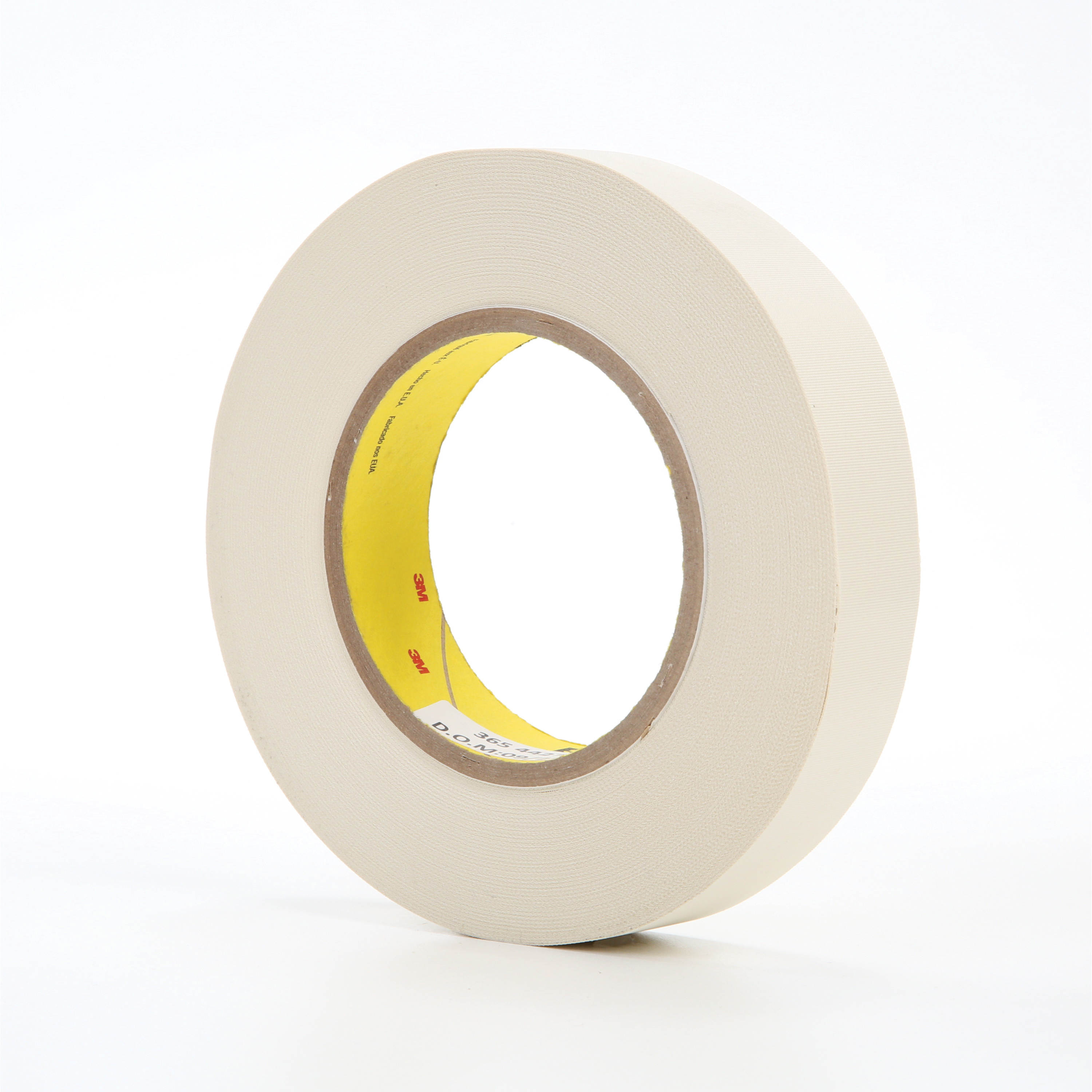 3M™ 021200-03020 Cloth Tape, 60 yd L x 1 in W, 8.3 mil THK, Thermoset Rubber Resin Adhesive, Glass Cloth Backing, White
