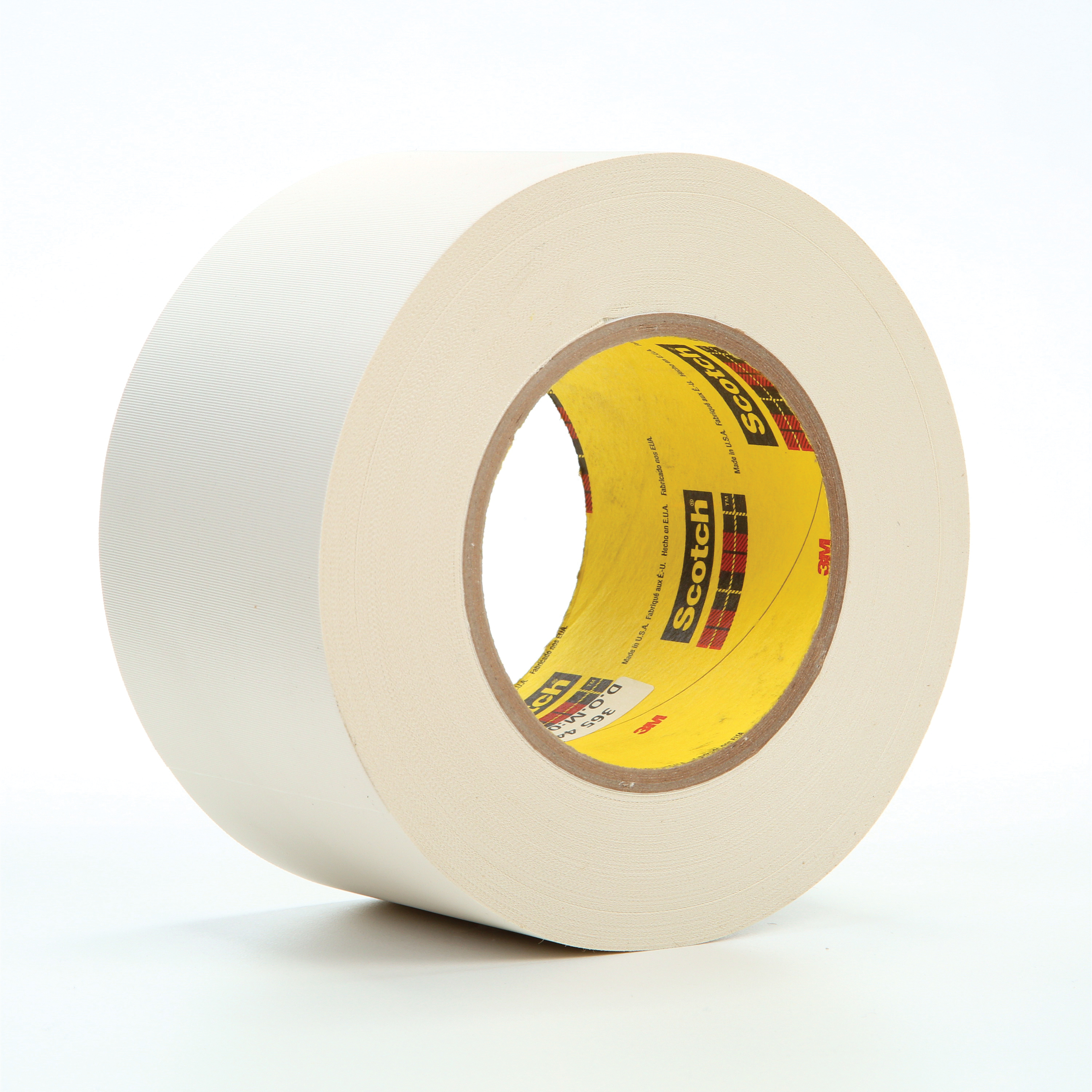 3M™ 021200-03021 Cloth Tape, 60 yd L x 3 in W, 8.3 mil THK, Thermoset Rubber Resin Adhesive, Glass Cloth Backing, White