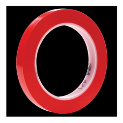 3M™ 021200-03104 471 High Performance Vinyl Tape, 36 yd L x 3/8 in W, 5.2 mil THK, Rubber Adhesive, Vinyl Backing, Red