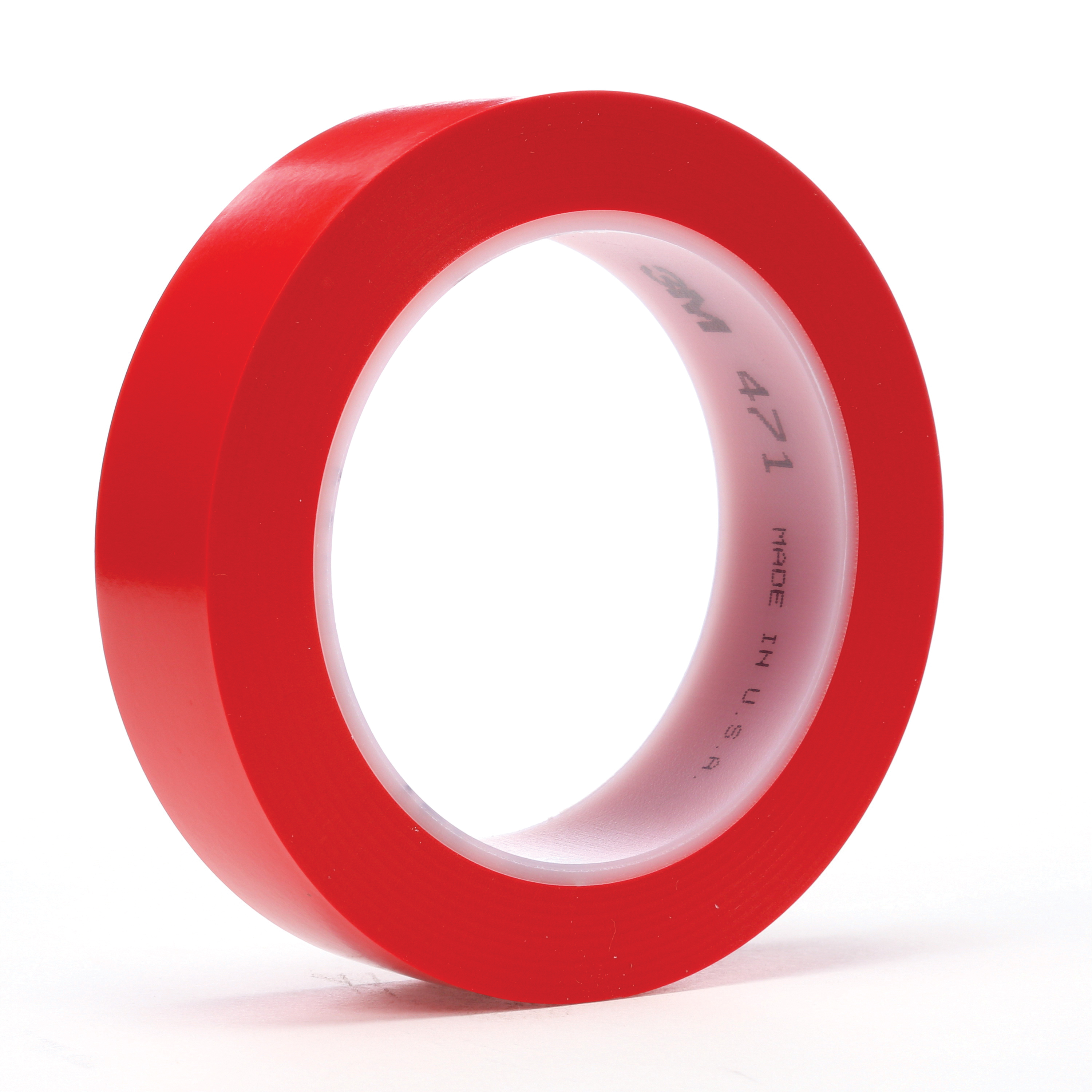 3M™ 021200-03107 High Performance Vinyl Tape, 36 yd L x 1 in W, 5.2 mil THK, Rubber Adhesive, Vinyl Backing, Red