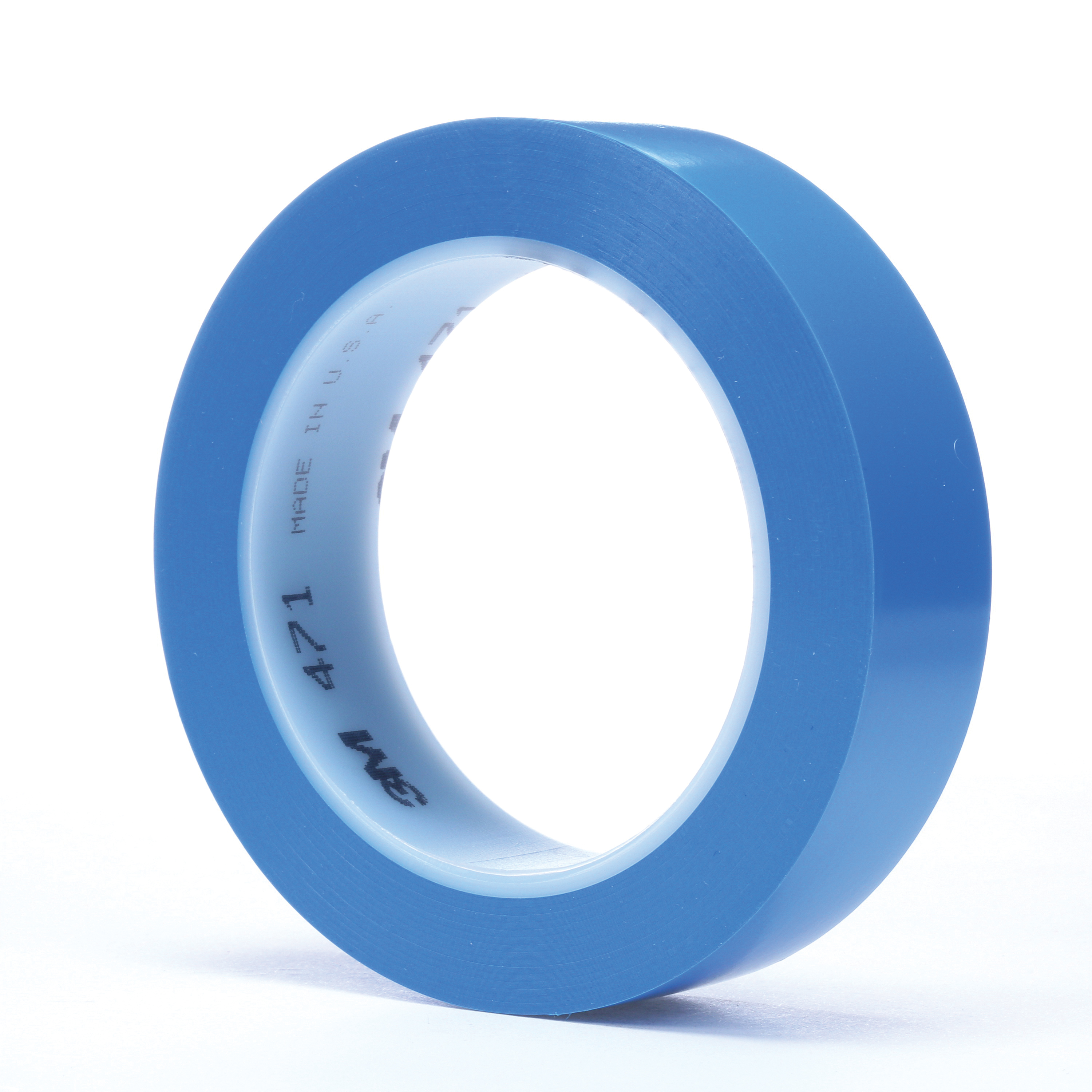 3M™ 021200-03121 High Performance Vinyl Tape, 36 yd L x 1 in W, 5.2 mil THK, Rubber Adhesive, Vinyl Backing, Blue