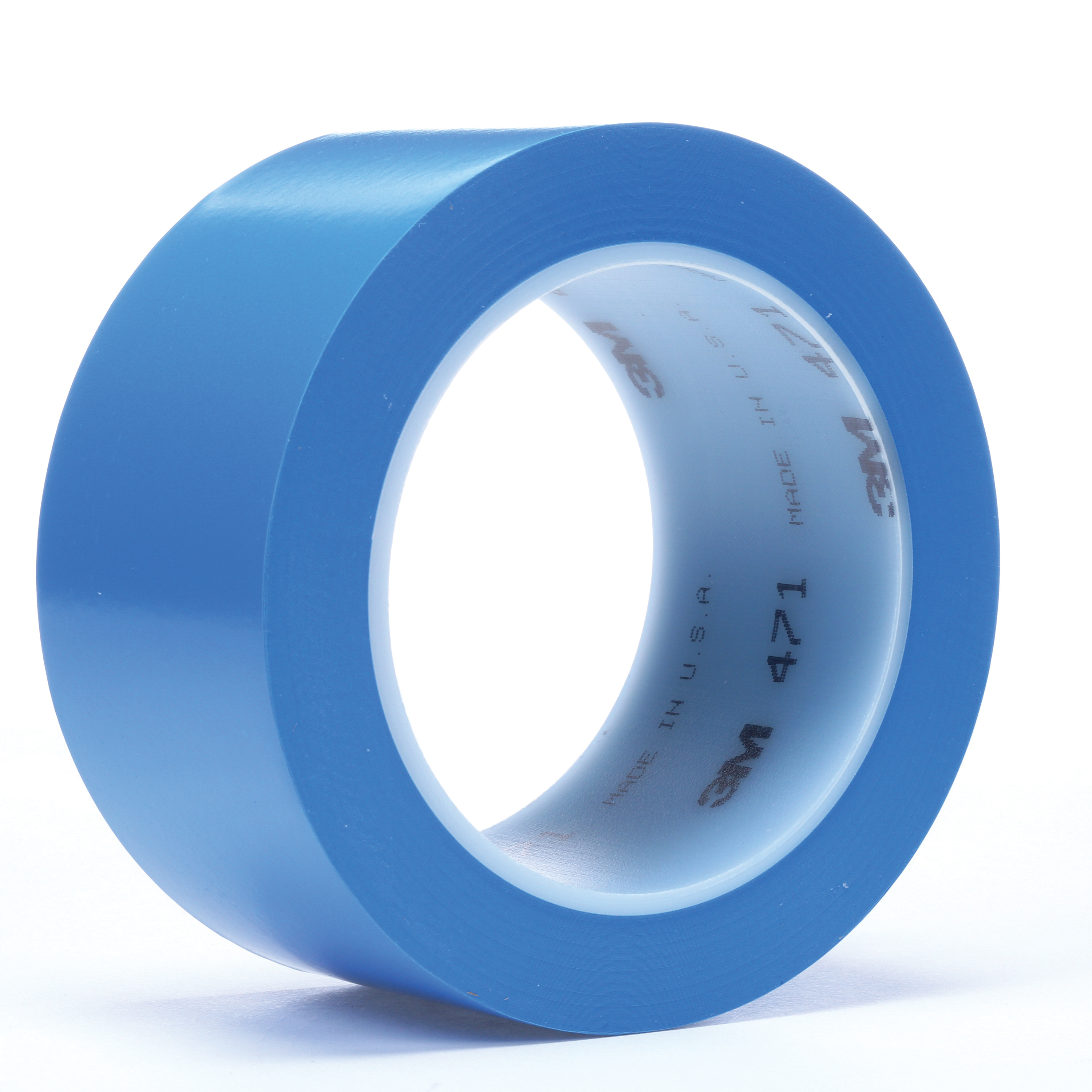 3M™ 021200-04308 High Performance Vinyl Tape, 36 yd L x 2 in W, 5.2 mil THK, Rubber Adhesive, Vinyl Backing, Blue