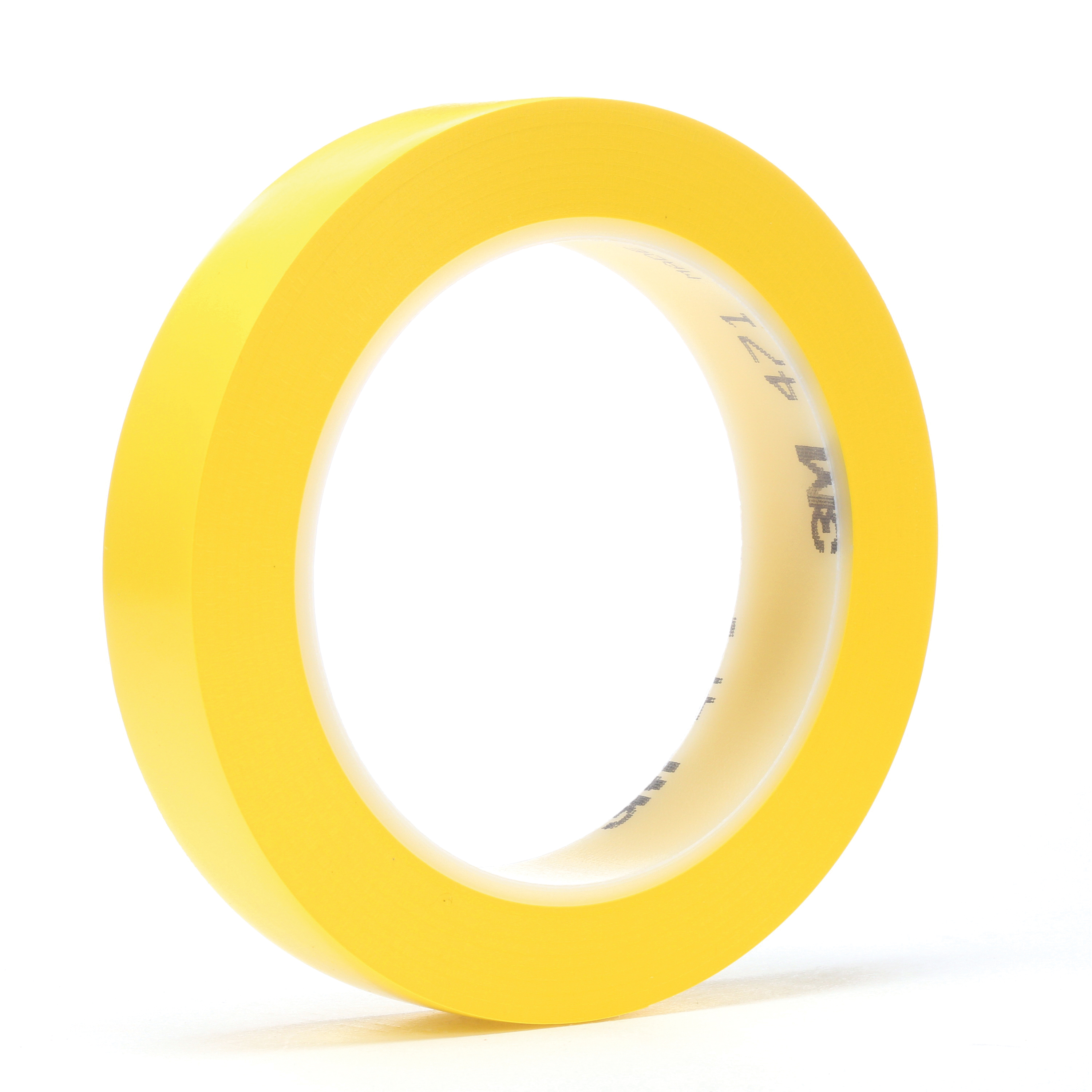 3M™ 021200-03126 High Performance Vinyl Tape, 36 yd L x 1/2 in W, 5.2 mil THK, Rubber Adhesive, Vinyl Backing, Yellow