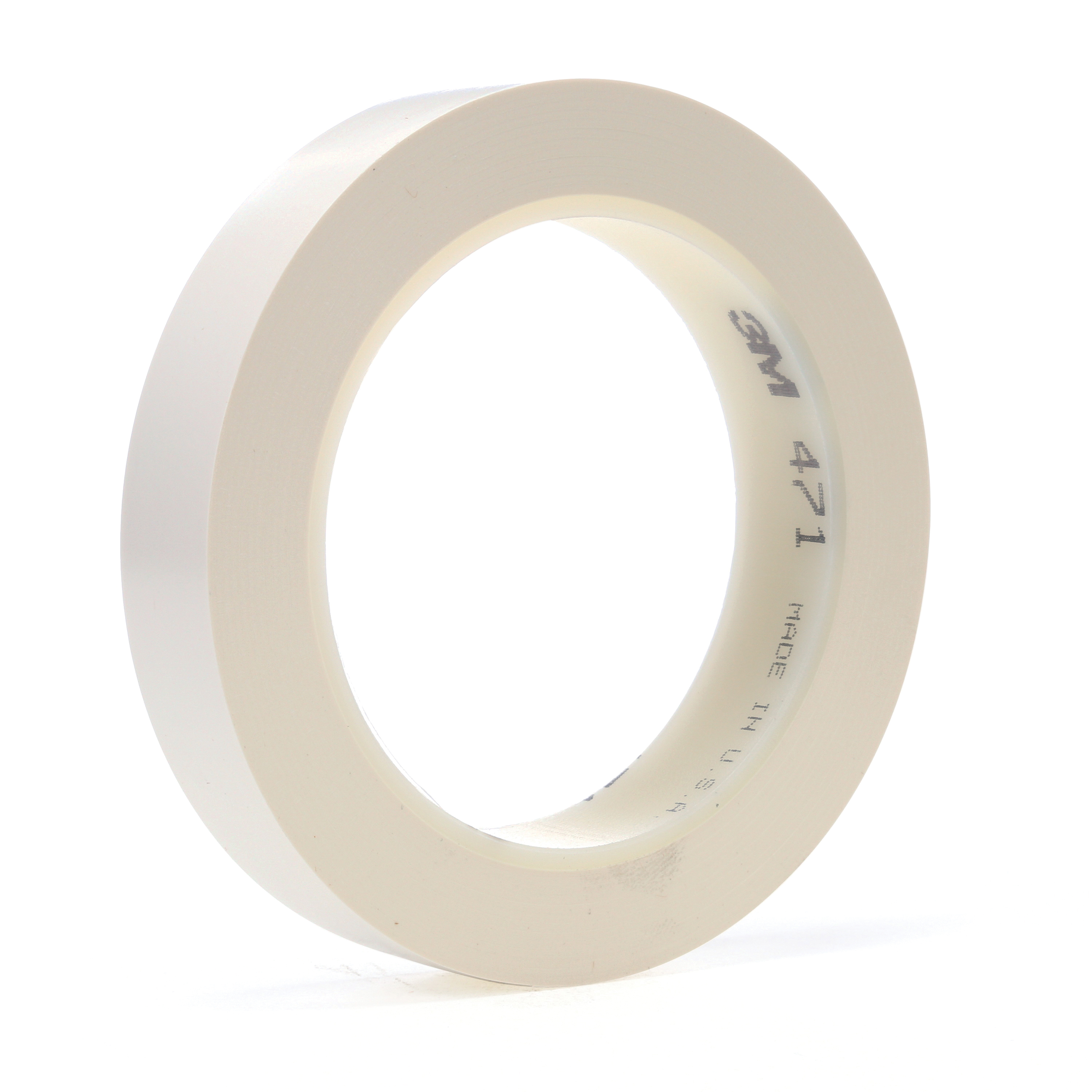 3M™ 021200-03994 High Performance Vinyl Tape, 36 yd L x 3/8 in W, 5.2 mil THK, Rubber Adhesive, Vinyl Backing, White