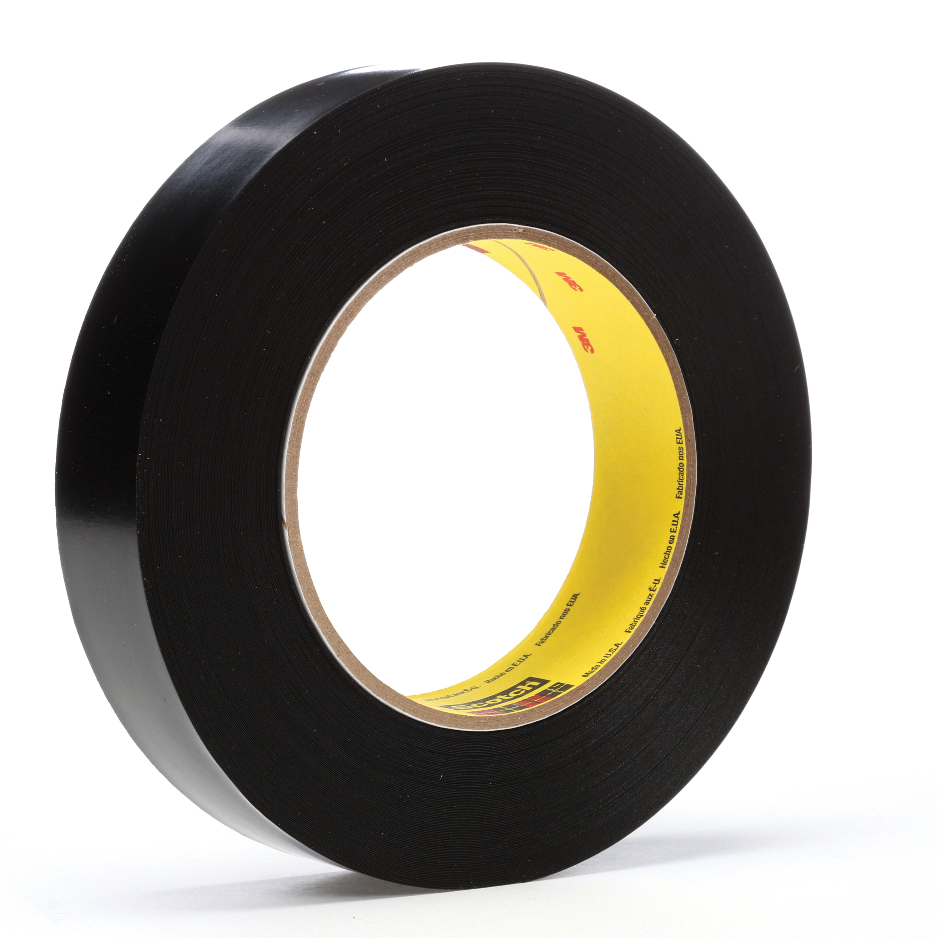 3M™ 021200-03151 Heavy Duty Vinyl Tape, 36 yd L x 1 in W, 10.4 mil THK, Rubber Adhesive, Vinyl Backing, Black
