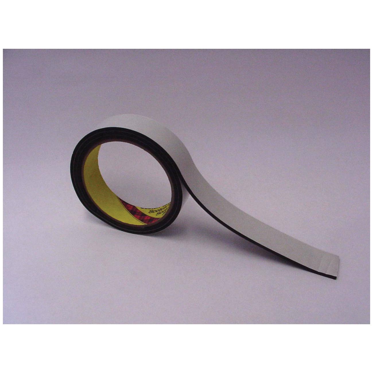 3M™ 021200-03310 Single Coated Foam Tape, 36 yd L x 1/4 in W, 125 mil THK, Acrylic Adhesive, Vinyl Foam Backing, Black