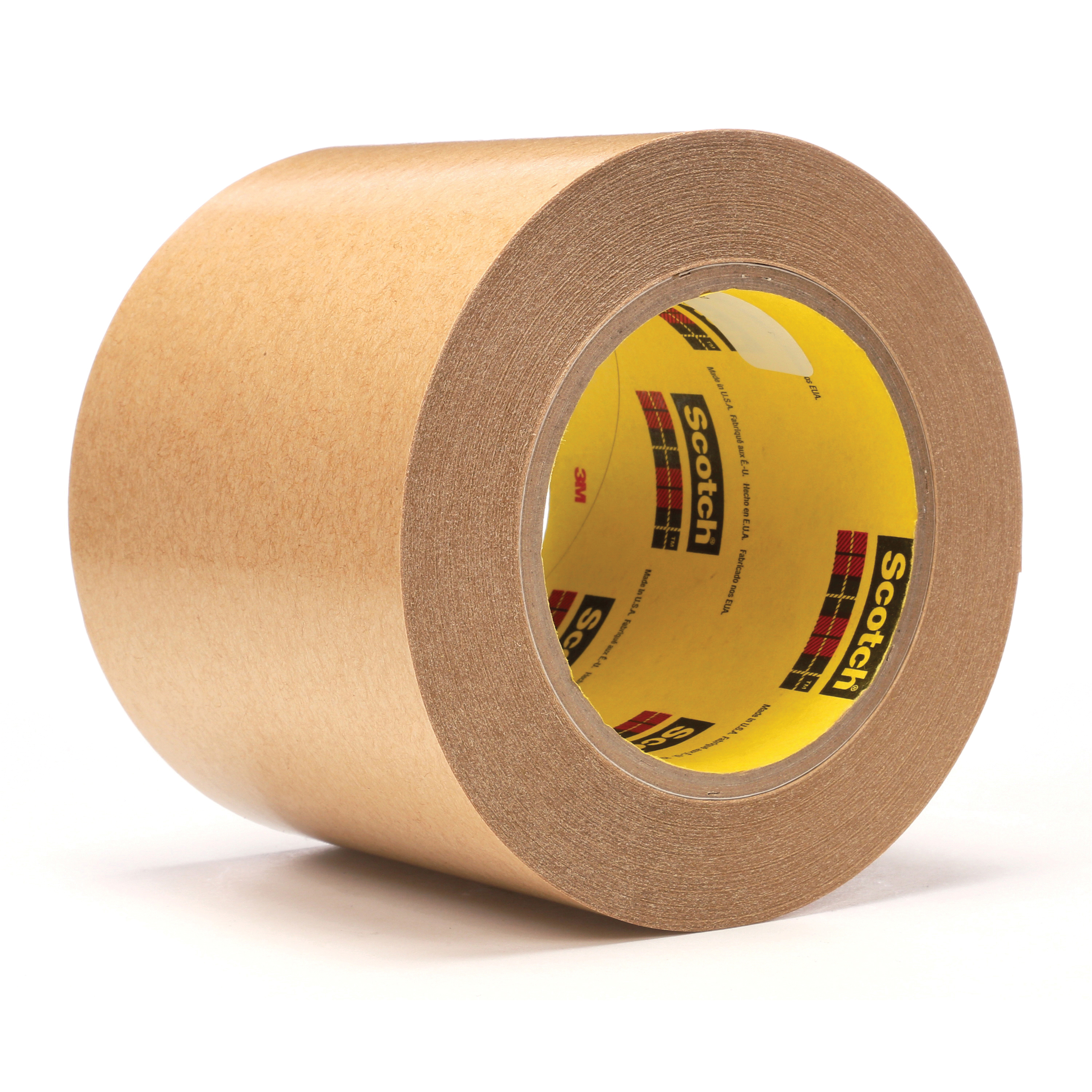 3M™ 021200-03341 Fibered General Purpose Adhesive Transfer Tape, 60 yd L x 4 in W, 2 mil THK, 2 mil 400 Acrylic Adhesive, Clear