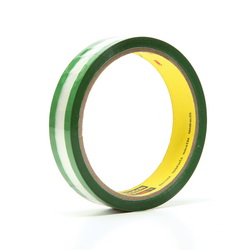3M™ 021200-03507 685 Riveters Film Tape, 36 yd L x 3/4 in W, 1.7 mil THK, Rubber Adhesive, 1 mil Transparent Polyester Backing, Green