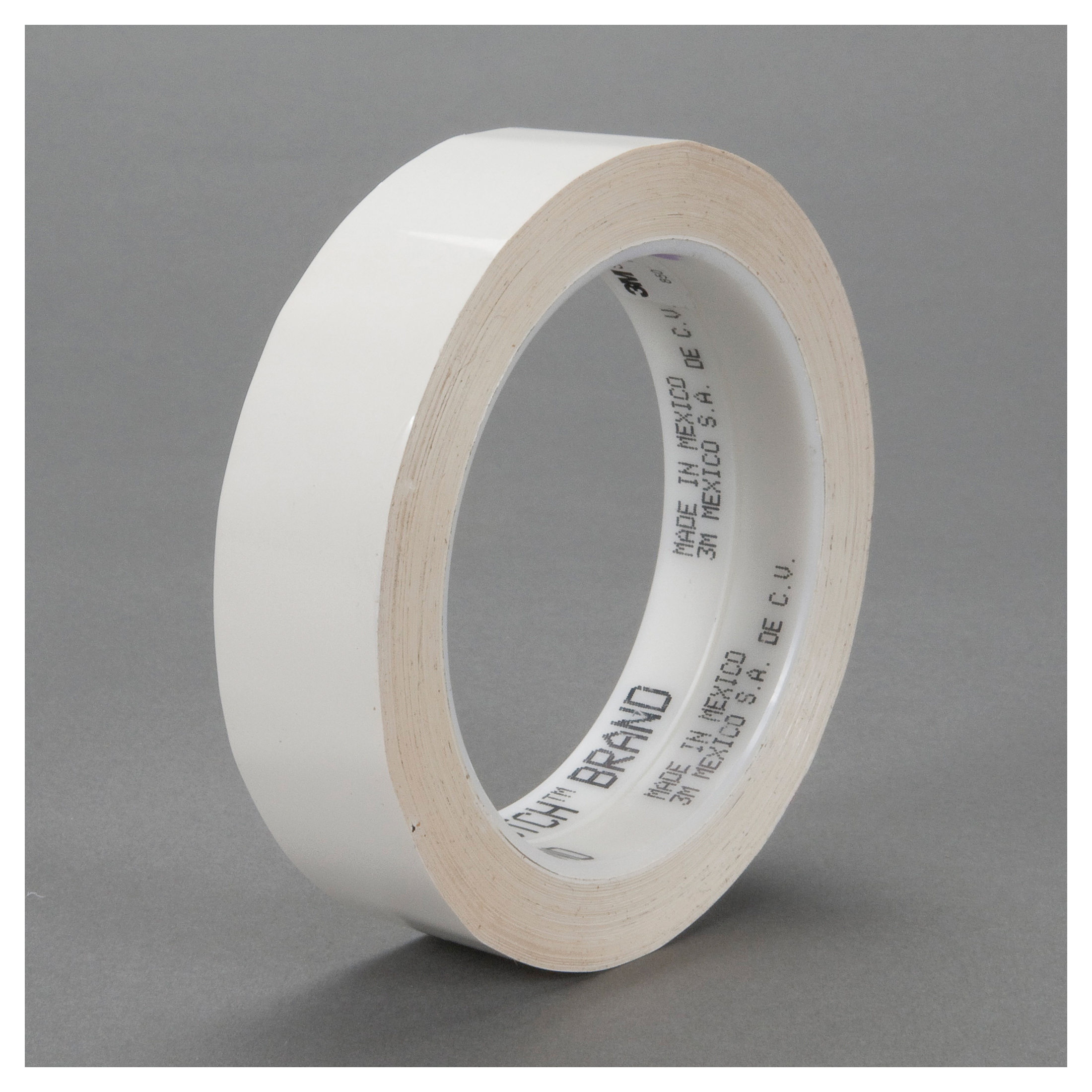 3M™ 021200-03919 Film Tape, 72 yd L x 1 in W, 1.9 mil THK, Acrylic Adhesive, Polyester Backing, White