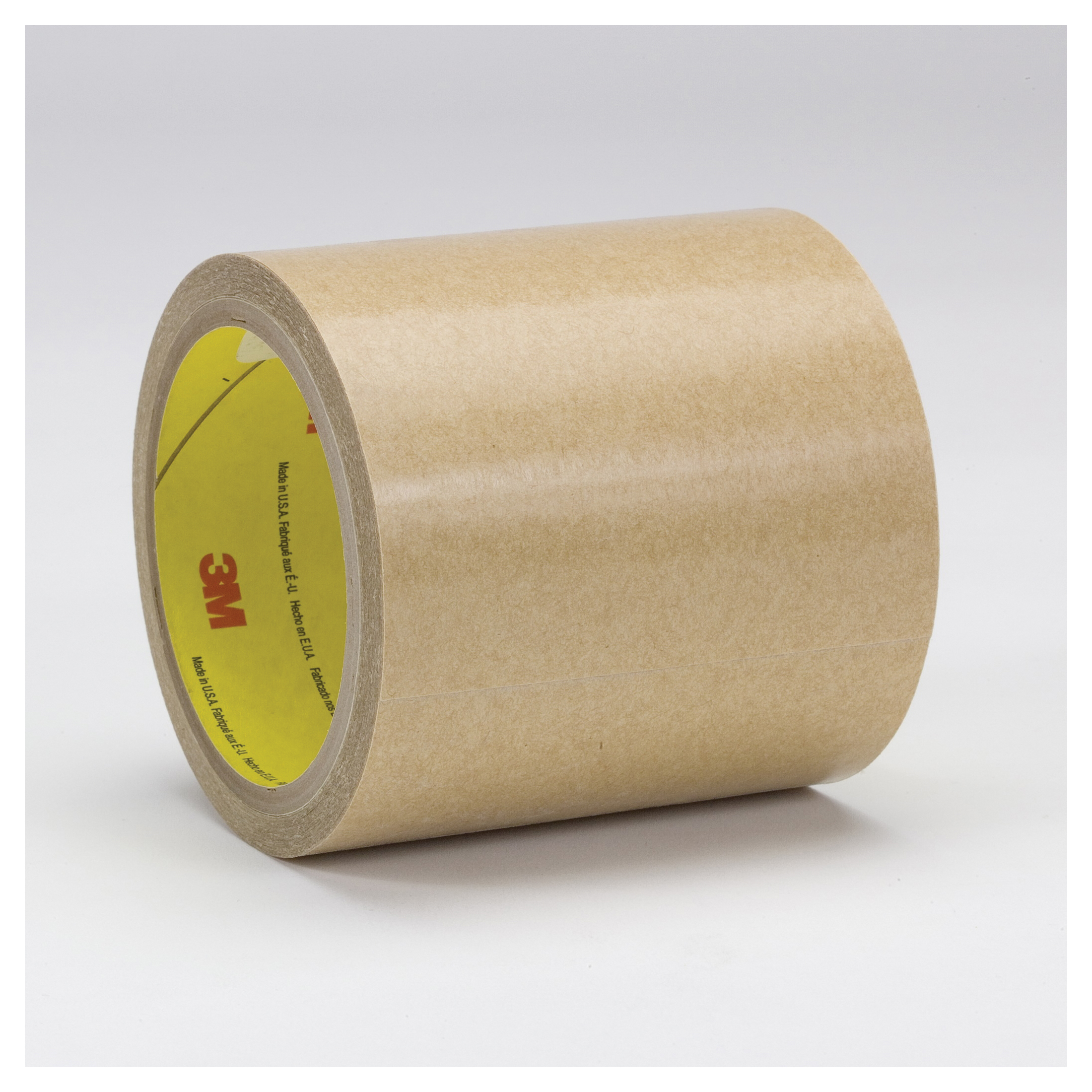 3M™ 021200-68800 General Purpose High Tack Adhesive Transfer Tape, 60 yd L x 12 in W, 8.5 mil THK, 5 mil 300 Acrylic Adhesive, Clear