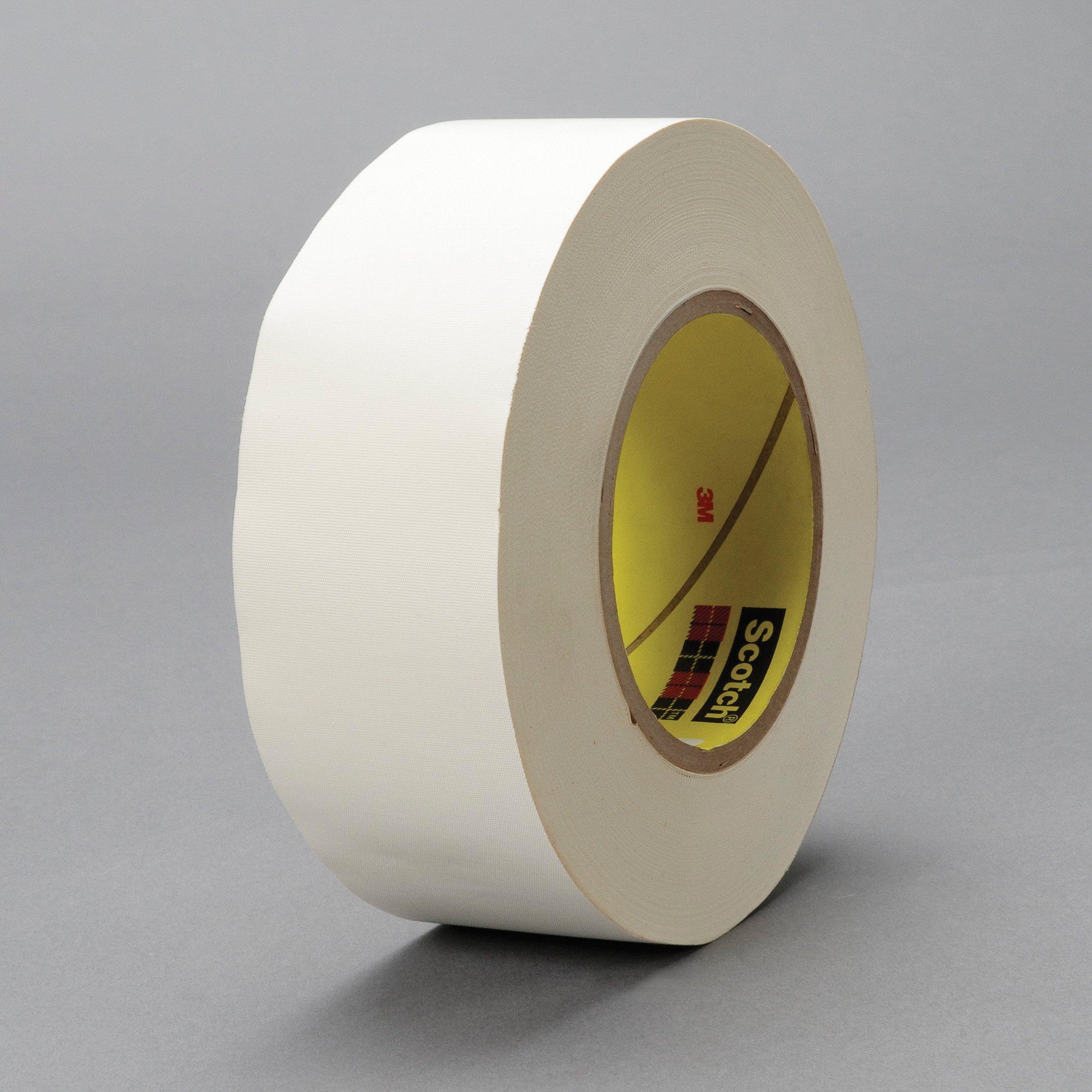 3M™ 021200-03019 Cloth Tape, 60 yd L x 3/4 in W, 8.3 mil THK, Thermoset Rubber Resin Adhesive, Glass Cloth Backing, White