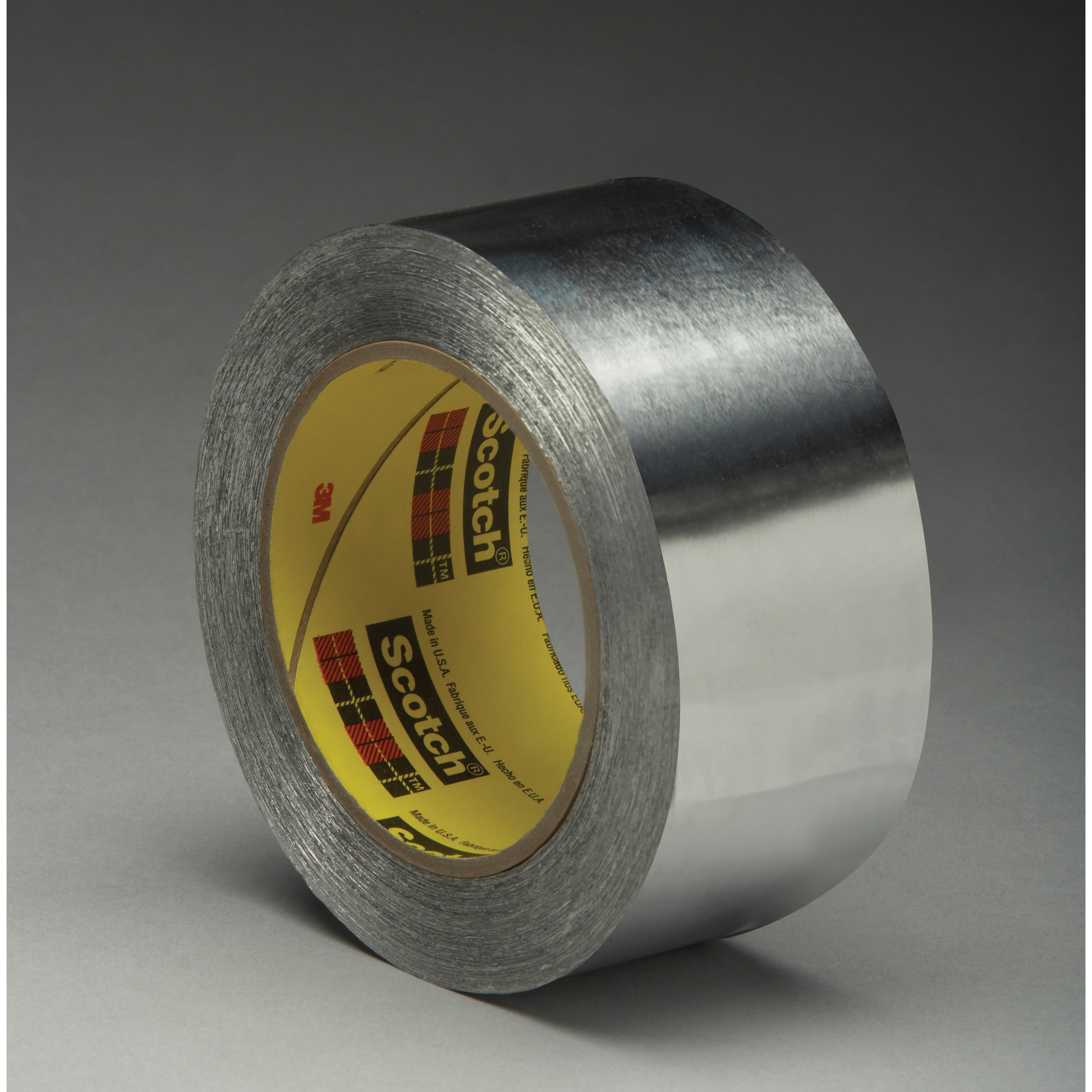 3M™ 021200-03897 Premium Performance Self-Wound Foil Tape, 60 yd L x 3/4 in W, 3.6 mil THK, Easy Release Film Liner, Silicon Adhesive, Aluminum Foil Backing, Silver
