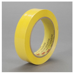 3M™ 021200-04011 483 Chemical-Resistant General Purpose UV-Resistant Masking Tape, 36 yd L x 1 in W, 5 mil THK, Rubber Adhesive, 3.9 mil Polyethylene Backing