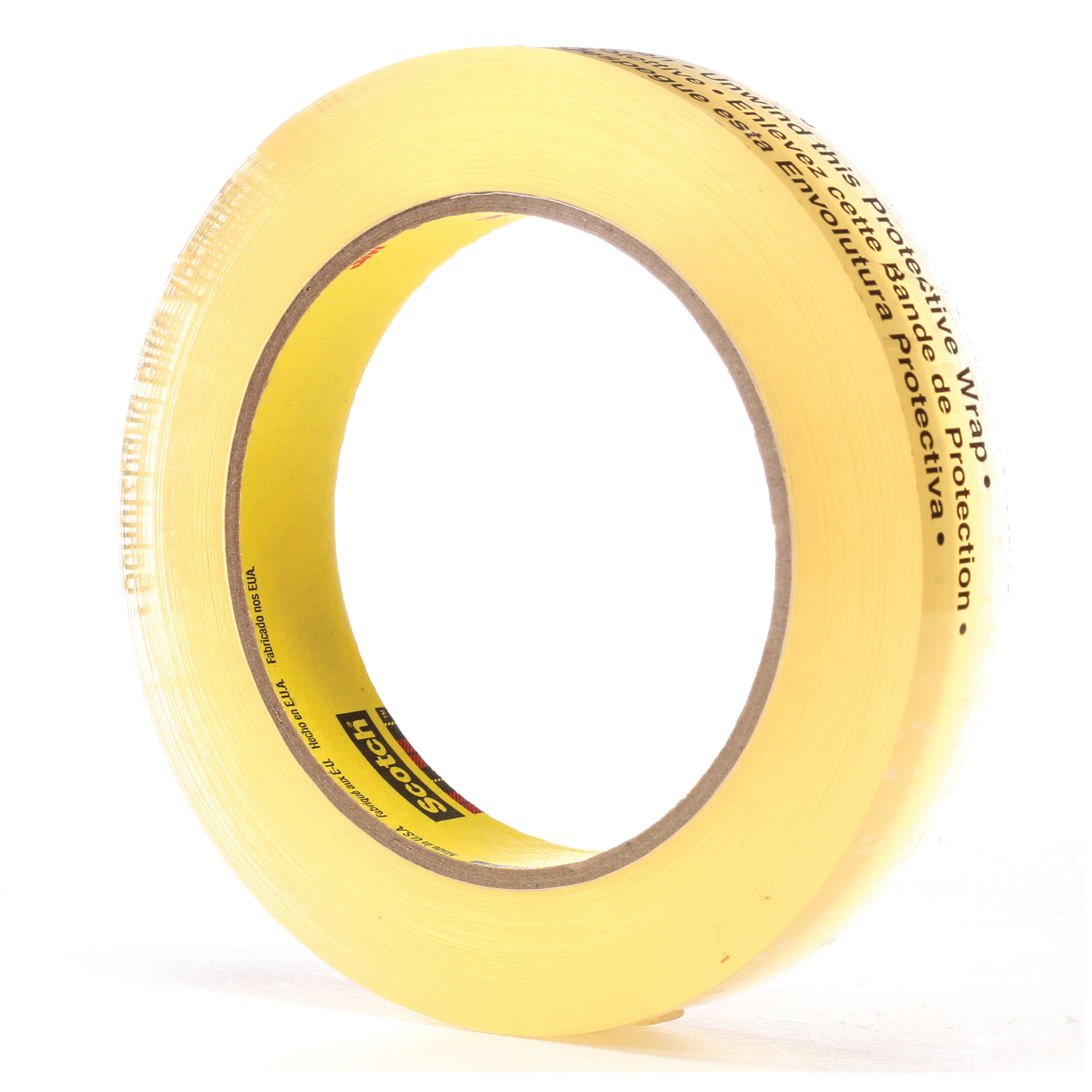 3M™ 021200-04036 Removable Double Coated Repositionable Tape, 72 yd L x 3/4 in W, 3.8 mil THK, Acrylic Adhesive, UPVC Backing, Clear