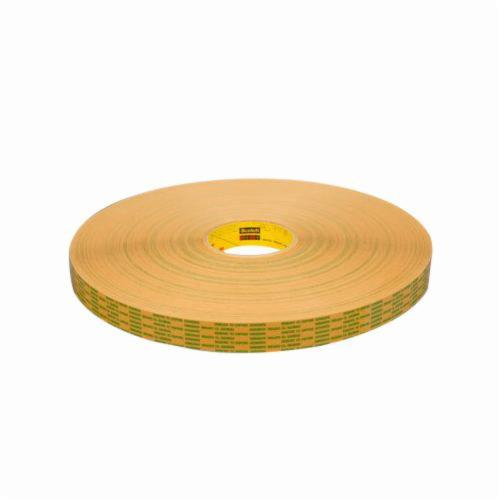 3M™ 021200-12157 Extended Liner Adhesive Transfer Tape, 60 yd L x 3/4 in W, 2 mil THK, 2 mil 400 Acrylic Adhesive, Translucent