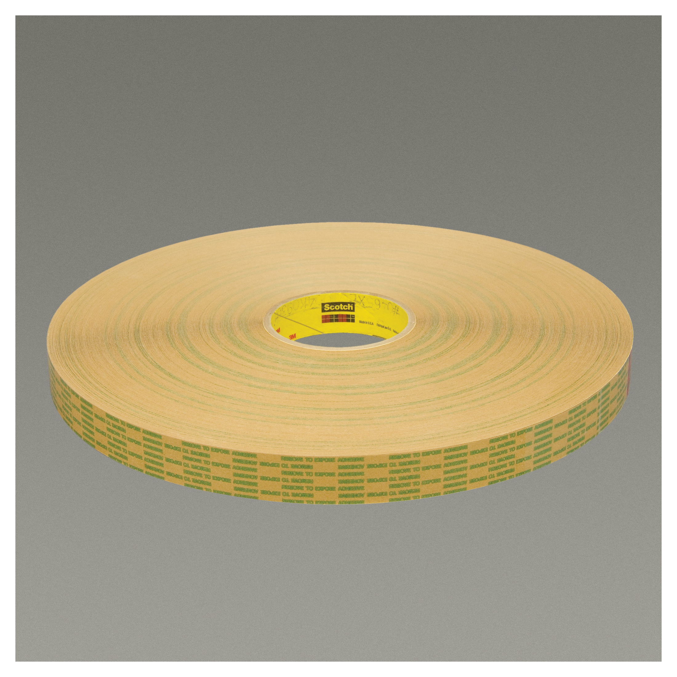 3M™ 021200-11676 Extended Liner Adhesive Transfer Tape, 60 yd L x 1/2 in W, 2 mil THK, 2 mil 400 Acrylic Adhesive, Translucent