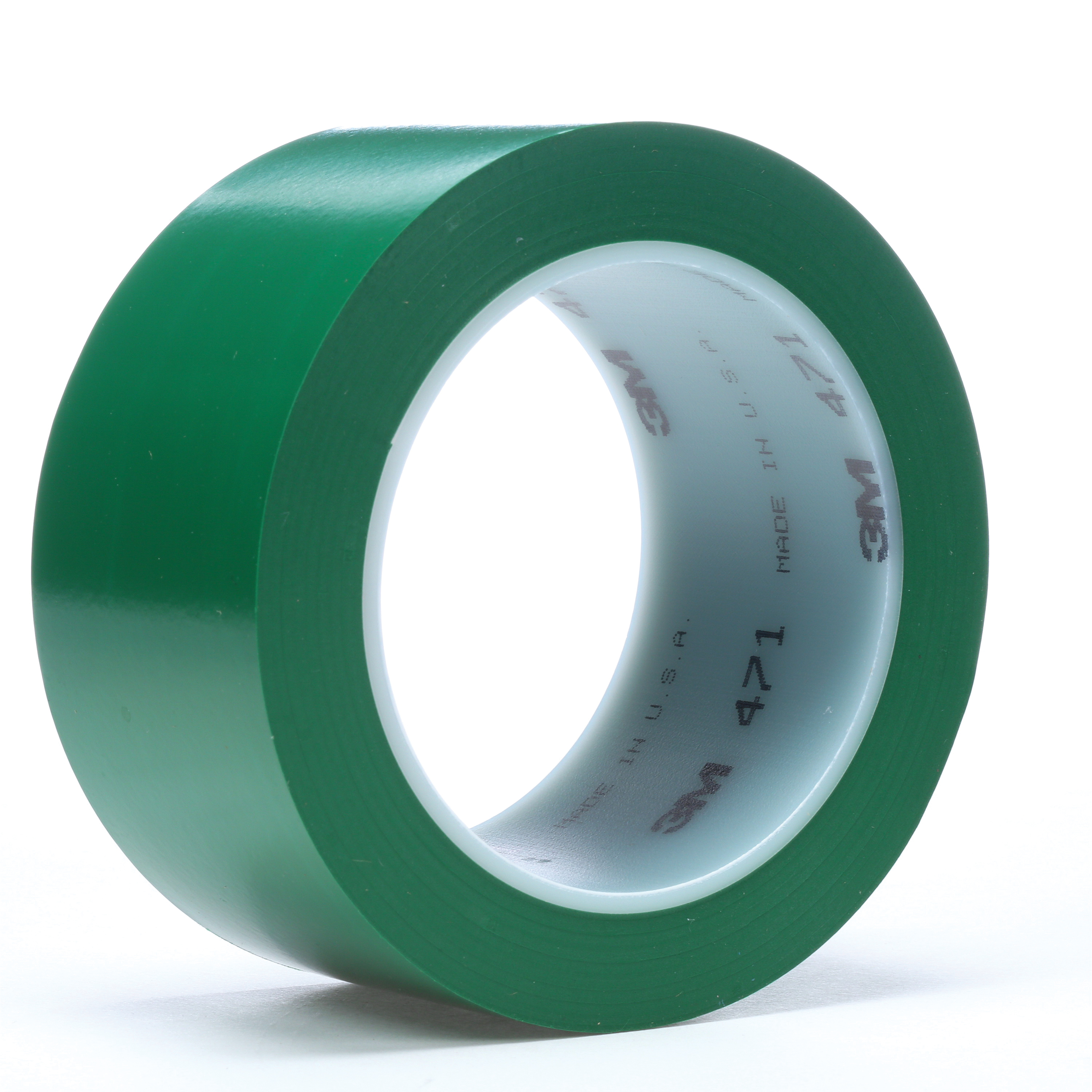 3M™ 021200-06468 High Performance Vinyl Tape, 36 yd L x 3 in W, 5.2 mil THK, Rubber Adhesive, Vinyl Backing, Green