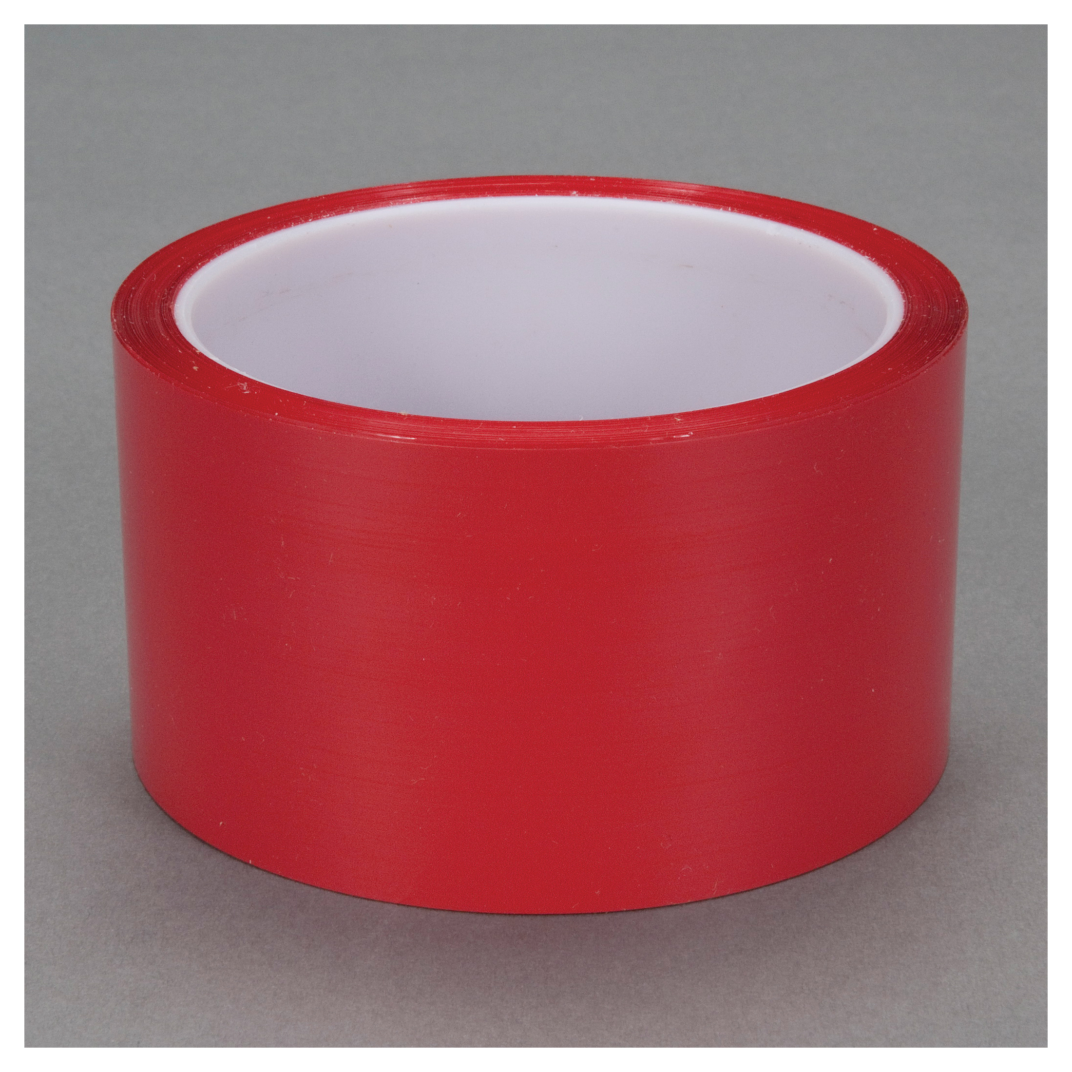 3M™ 021200-04347 Film Tape, 72 yd L x 2 in W, 1.9 mil THK, Acrylic Adhesive, 0.9 mil Polyester Backing, Red