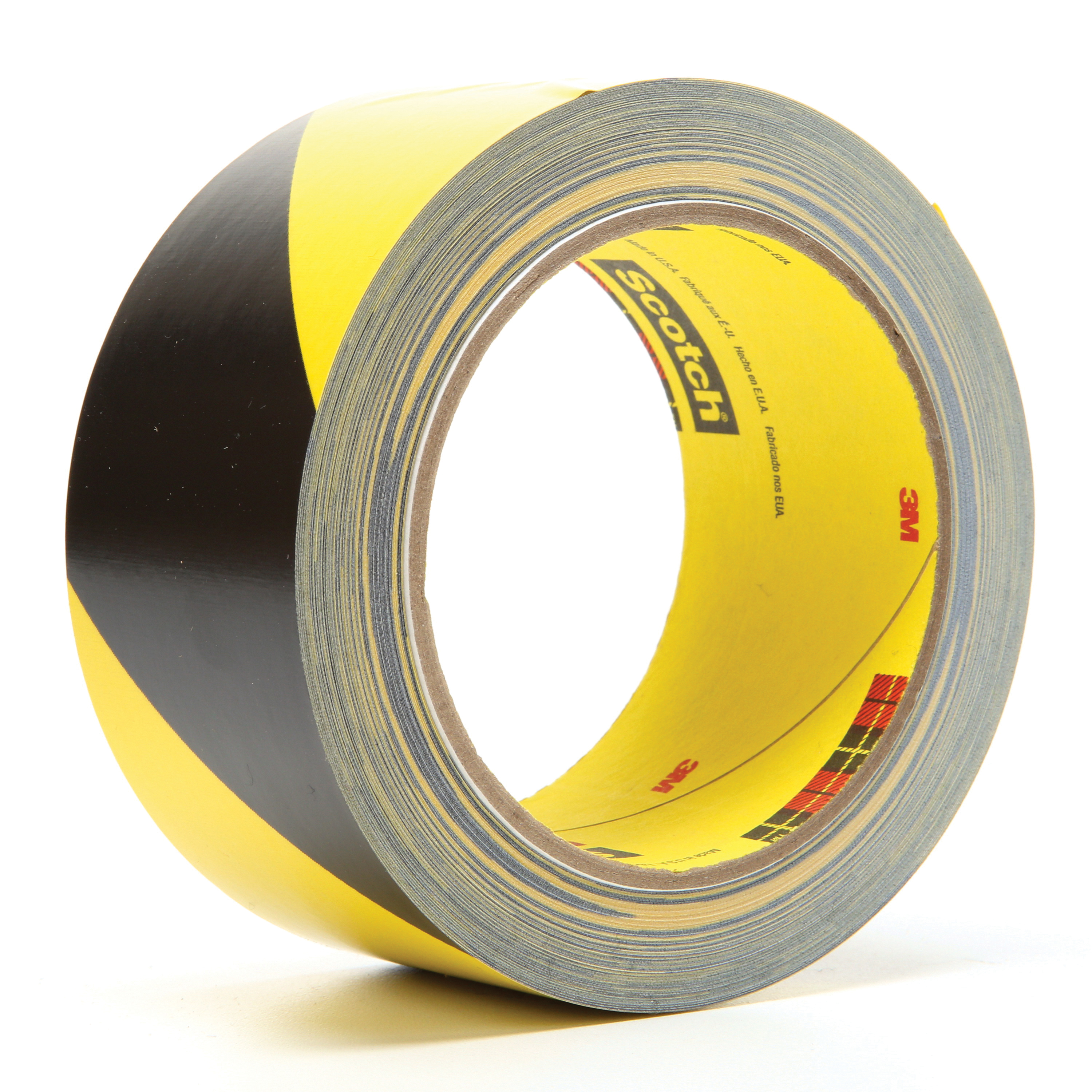 3M™ 021200-04585 5702 Safety Stripe Tape, 36 yd L x 2 in W, Black/Yellow, Rubber Adhesive/Vinyl Backing