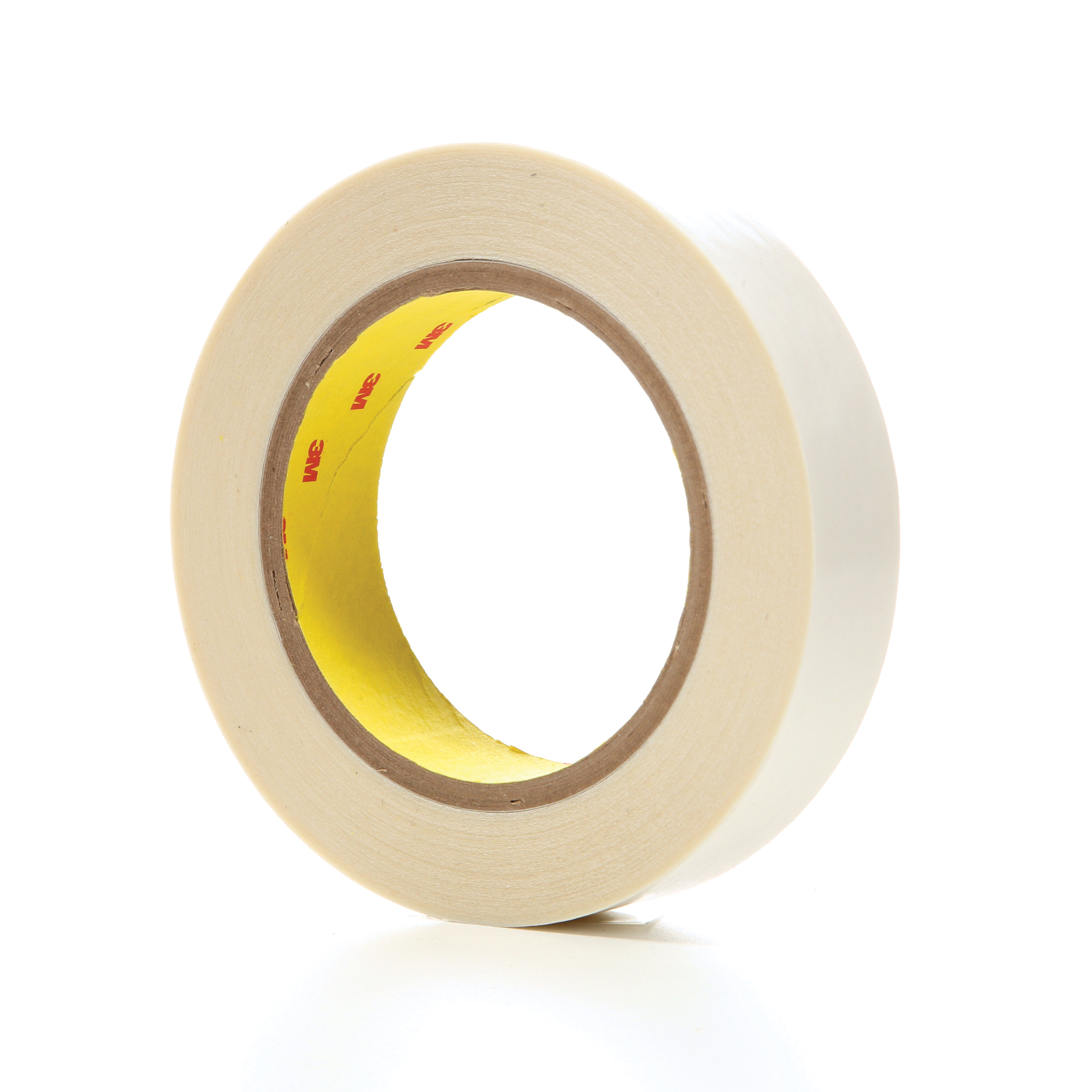 3M™ 021200-04601 Double Coated Film Tape, 36 yd L x 1 in W, 6.9 mil THK, Acrylic Adhesive, Polyester Film Backing, Clear