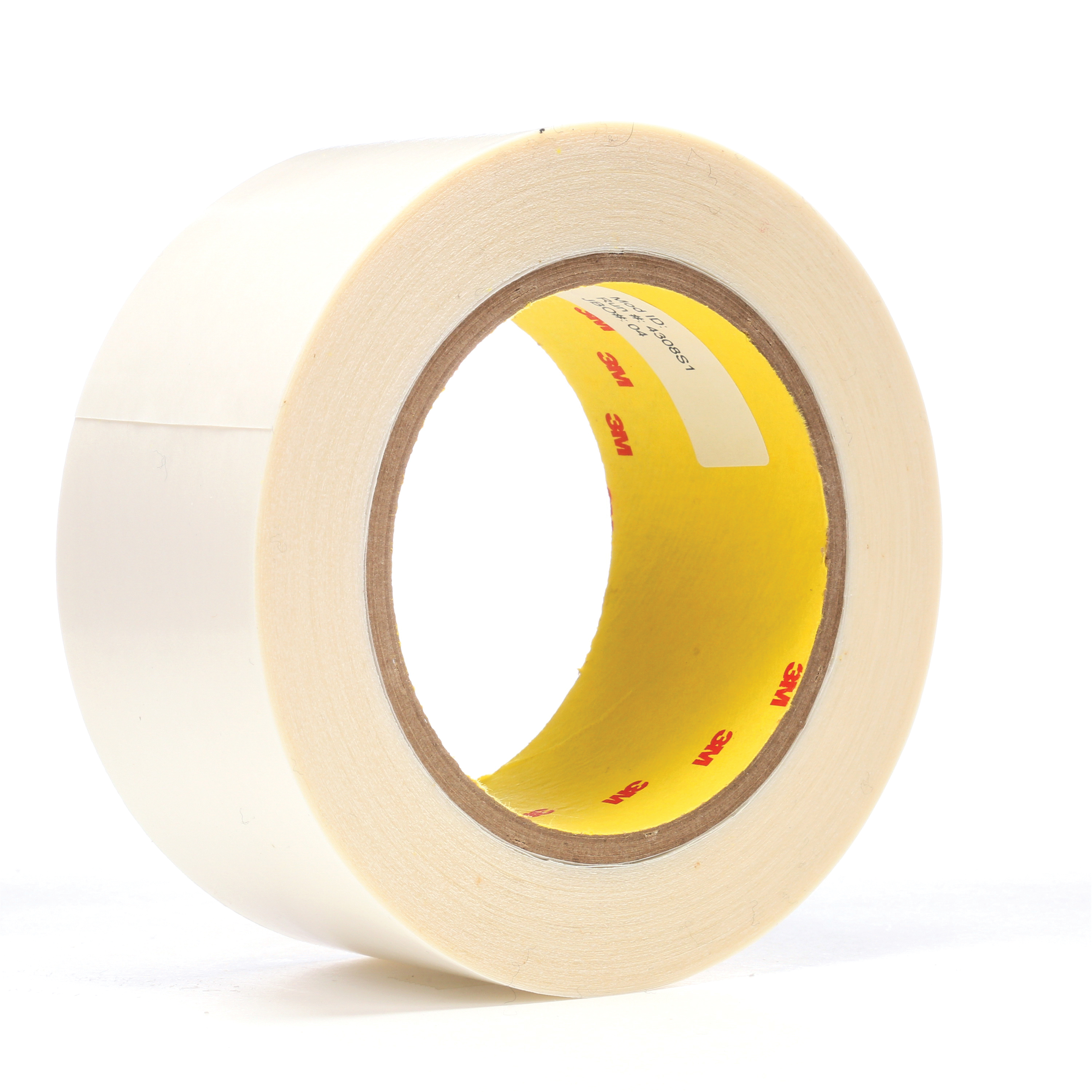 3M™ 021200-04842 444 Double Coated Film Tape, 36 yd L x 2 in W, 6.9 mil THK, Acrylic Adhesive, Polyester Film Backing, Clear