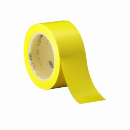 3M™ 021200-05819 High Performance Vinyl Tape, 36 yd L x 3/4 in W, 5.2 mil THK, Rubber Adhesive, Vinyl Backing, Yellow