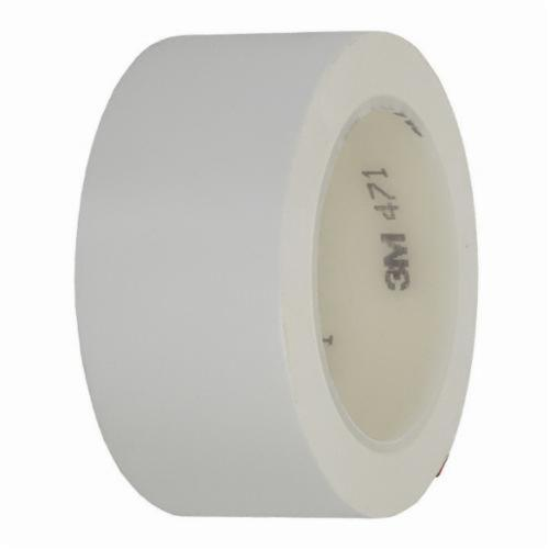 3M™ 021200-05823 High Performance Vinyl Tape, 36 yd L x 3/4 in W, 5.2 mil THK, Rubber Adhesive, Vinyl Backing, White