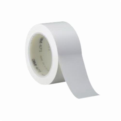 3M™ 021200-06421 High Performance Vinyl Tape, 36 yd L x 2 in W, 5.2 mil THK, Rubber Adhesive, Vinyl Backing, White
