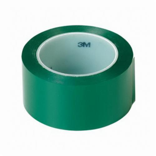 3M™ 021200-06423 High Performance Vinyl Tape, 36 yd L x 2 in W, 5.2 mil THK, Rubber Adhesive, Vinyl Backing, Green