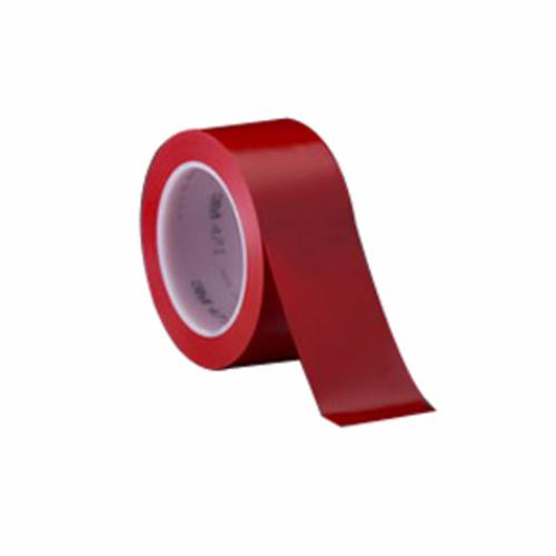 3M™ 021200-06424 High Performance Vinyl Tape, 36 yd L x 2 in W, 5.2 mil THK, Rubber Adhesive, Vinyl Backing, Red