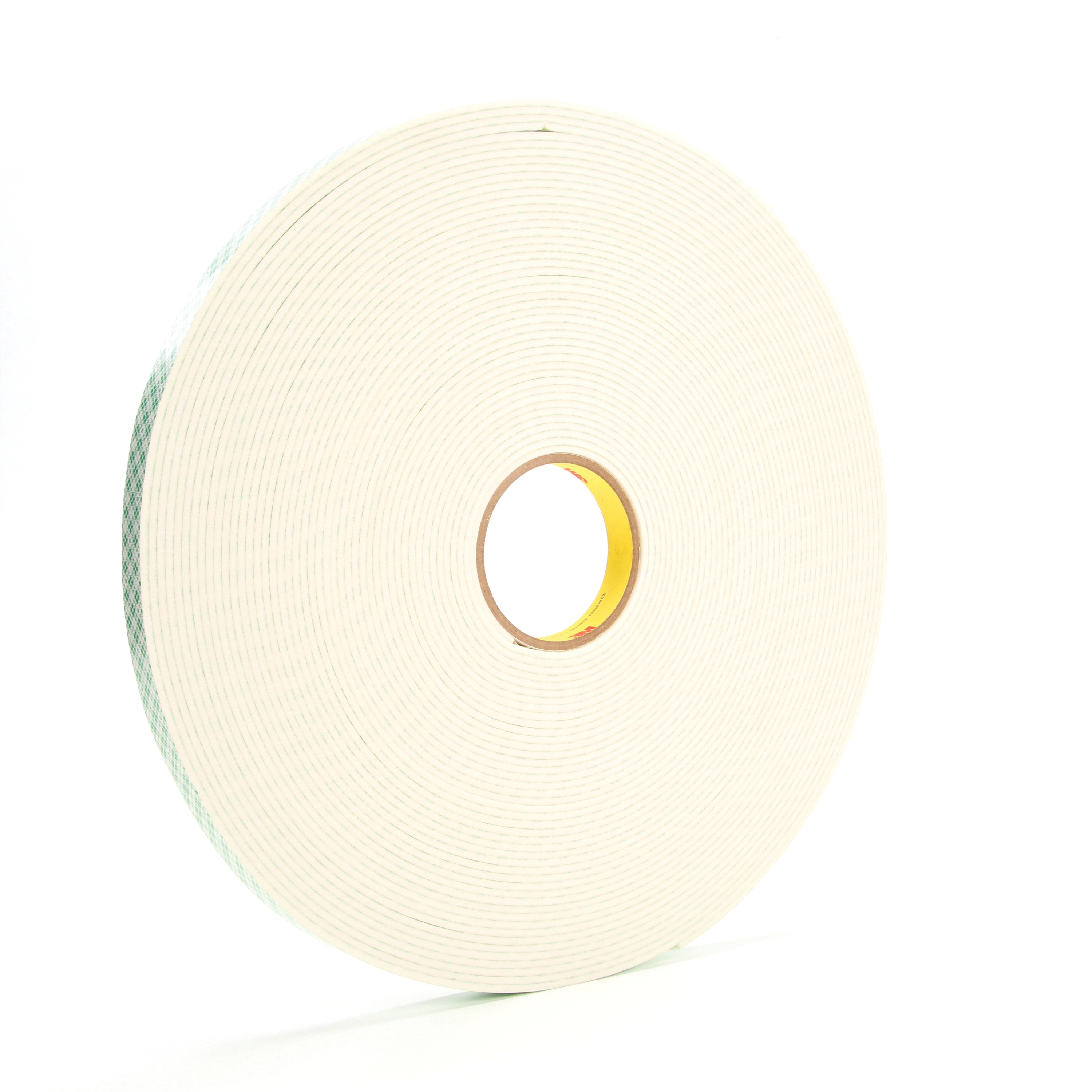 3M™ 021200-06451 Double Coated Tape, 36 yd L x 3/4 in W, 125 mil THK, Acrylic Adhesive, Urethane Foam Backing, Off-White