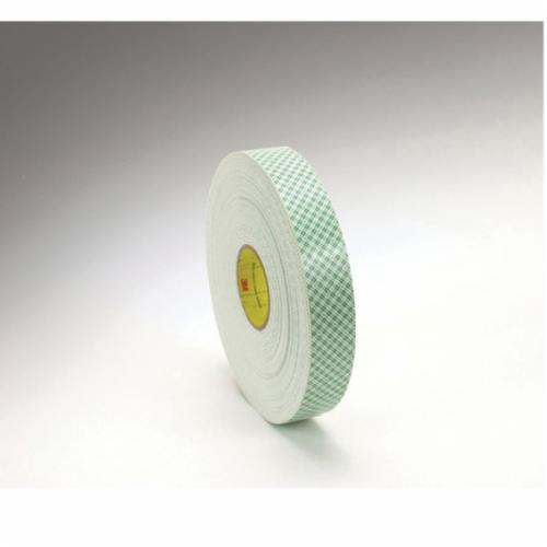 3M™ 021200-06454 2-Sided Coated Tape, 36 yd L x 3/4 in W, 62 mil THK, Urethane Foam, Acrylic Adhesive, Foam Backing, Off-White