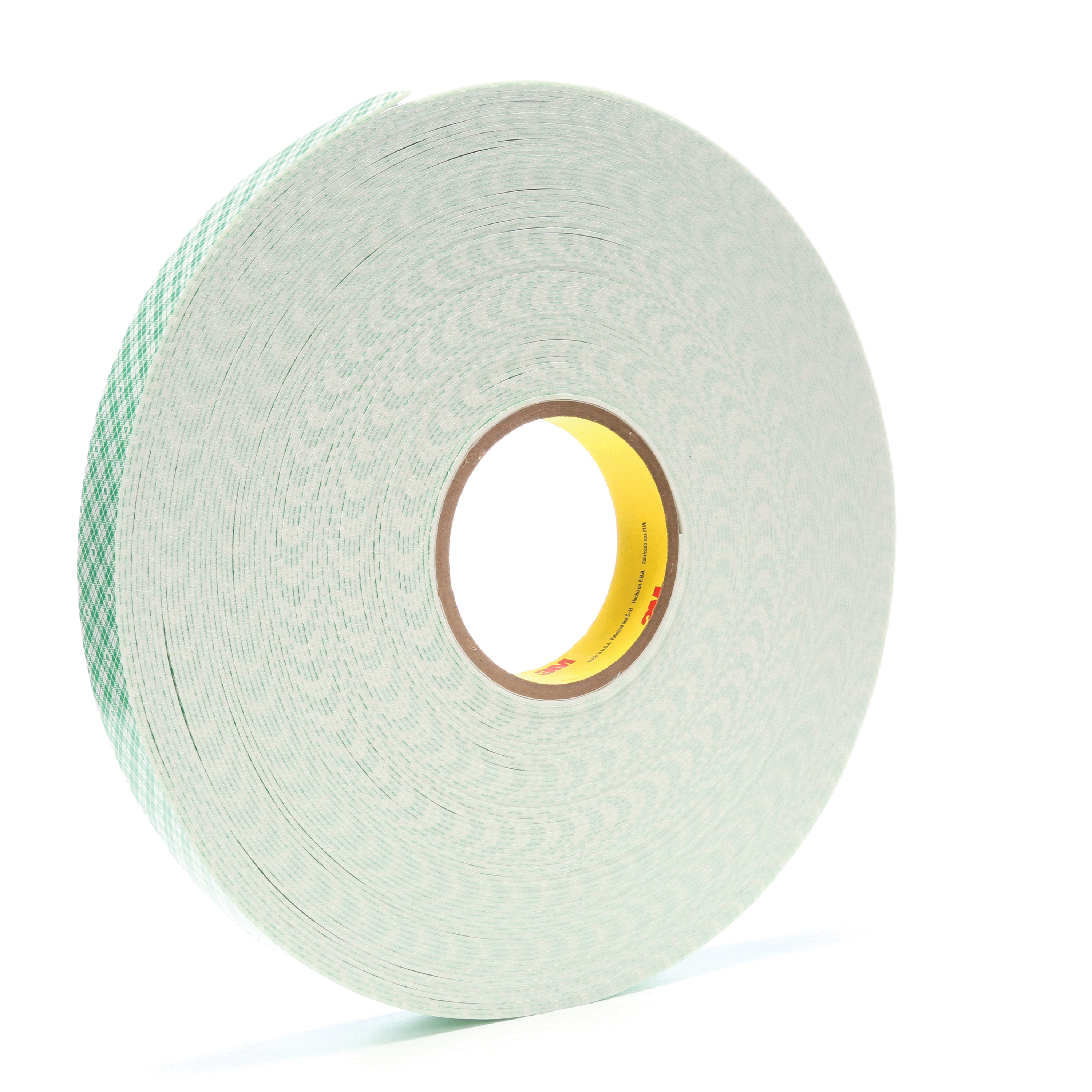 3M™ 021200-06455 Double Coated Tape, 36 yd L x 1 in W, 62 mil THK, Acrylic Adhesive, Urethane Foam Backing, Off-White