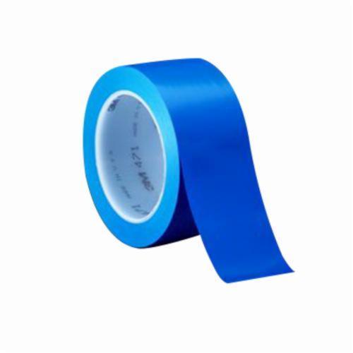3M™ 021200-07170 High Performance Vinyl Tape, 36 yd L x 2 in W, 5.2 mil THK, Rubber Adhesive, Vinyl Backing, Blue