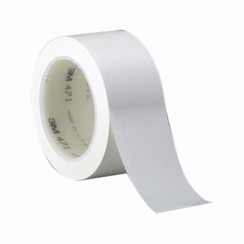 3M™ 021200-07187 High Performance Vinyl Tape, 36 yd L x 1 in W, 5.2 mil THK, Rubber Adhesive, Vinyl Backing, White