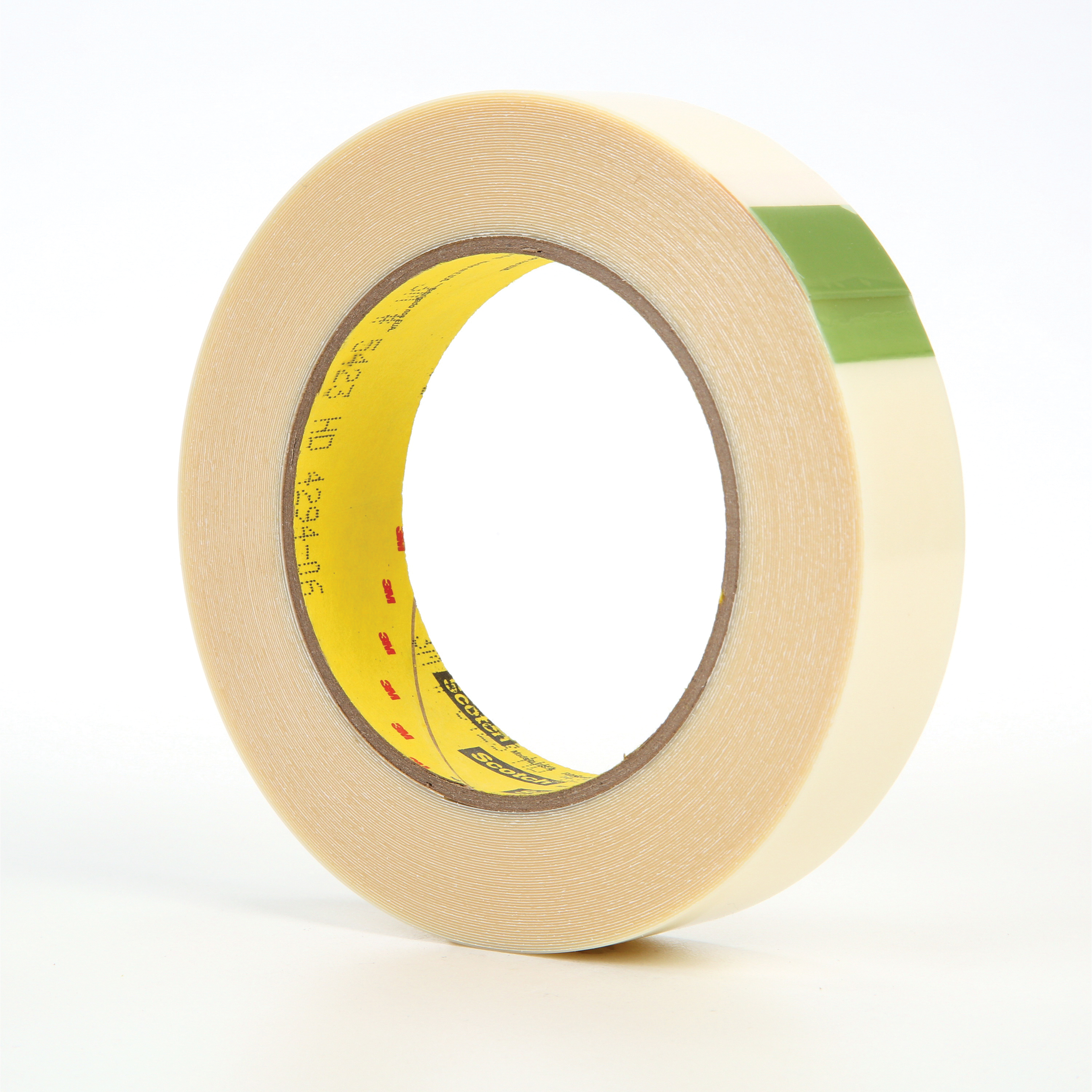 3M™ 021200-07577 5423 Film Tape, 18 yd L x 1 in W, 11.7 mil THK, Rubber Adhesive, 10 mil UHMW Polyethylene Backing, Transparent