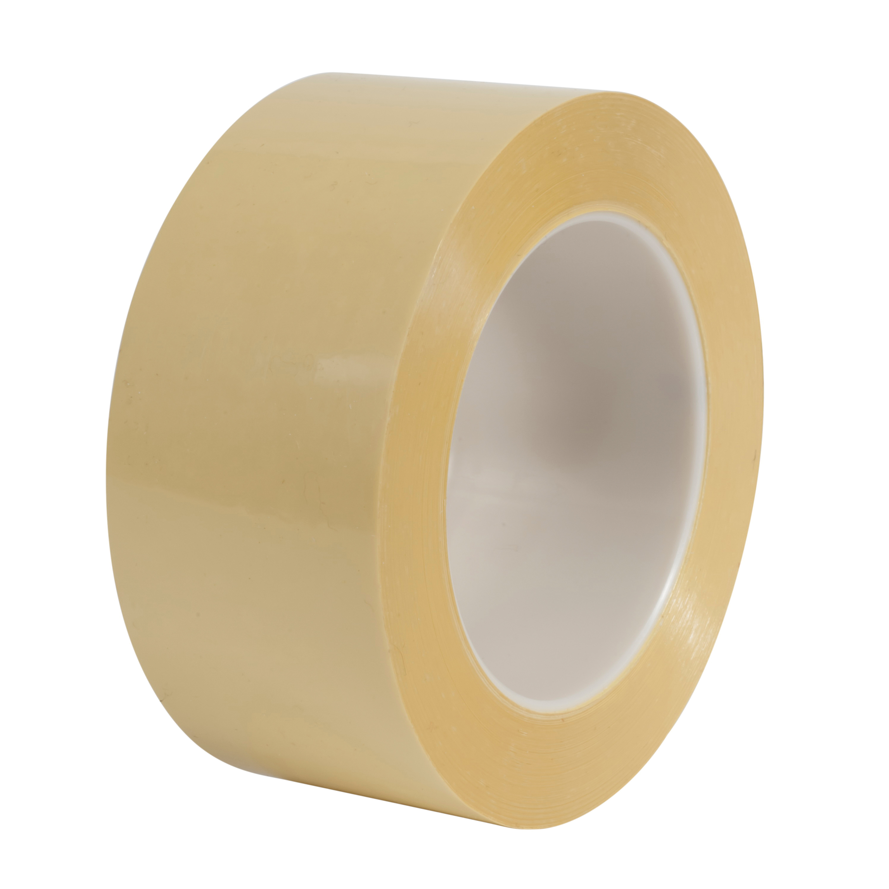 3M™ 021200-11604 Splicing Tape, 72 yd L x 2 in W, 3.2 mil THK, Rubber Adhesive, Polyester Backing, Yellow