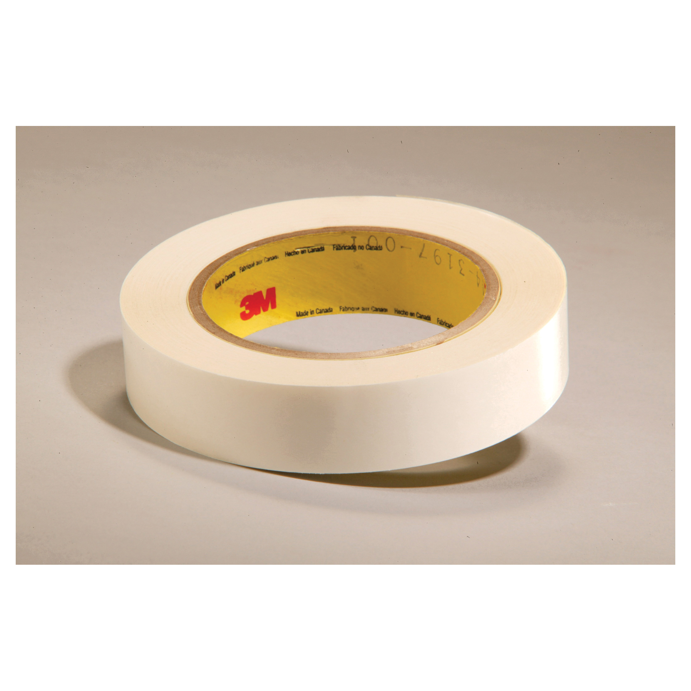 3M™ 021200-24400 Double Coated Film Tape, 36 yd L x 1 in W, 8.1 mil THK, Acrylic Adhesive, Polyester Film Backing, Clear