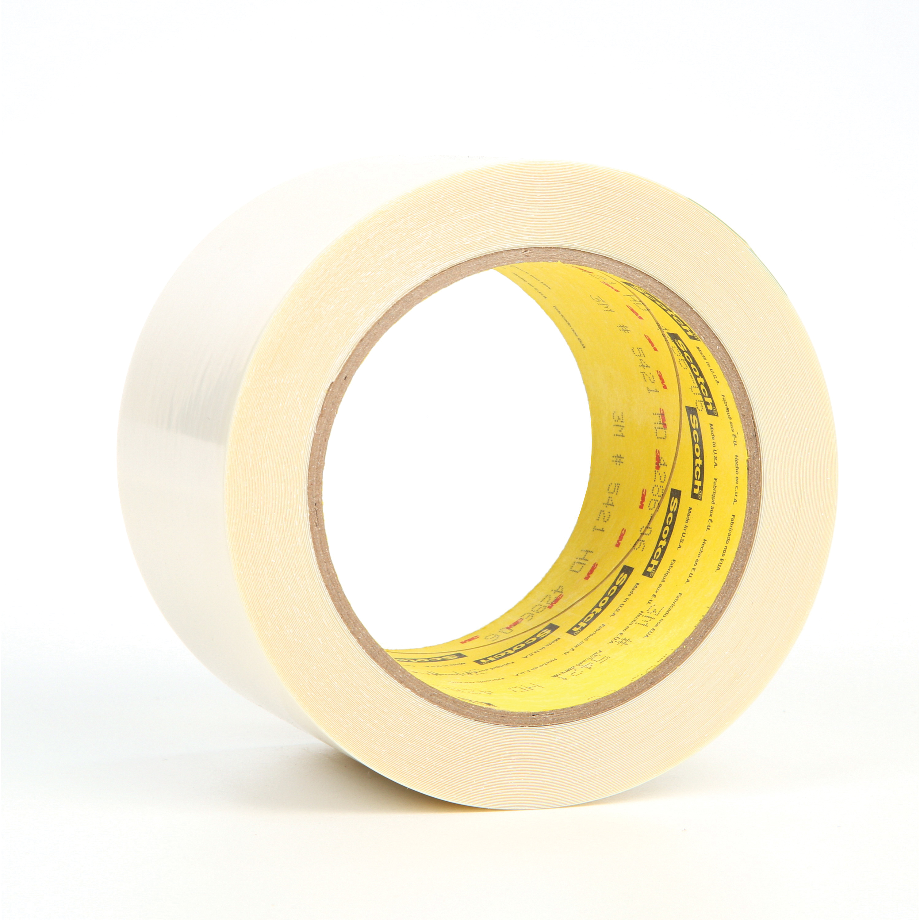 3M™ 021200-11989 General Purpose Film Tape, 18 yd L x 3 in W, 6.7 mil THK, Rubber Adhesive, UHMWP Backing, Transparent